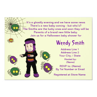 Lil Monster Baby Shower Invitation Cards