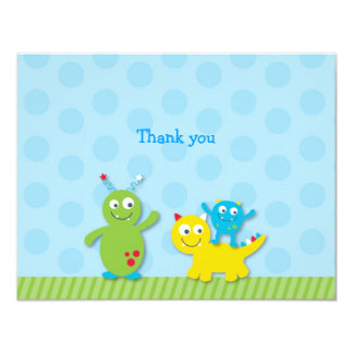 Lil Monster Flat Thank You Note Cards 11 Cm X 14 Cm Invitation Card
