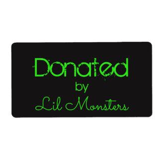 Lil Monsters label sticker neon green black