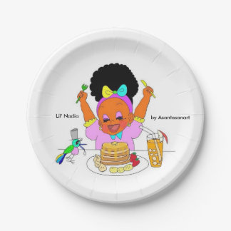 Lil' Nadia Paper Plates 7 Inch Paper Plate