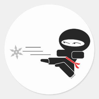 Lil Ninja Round Stickers