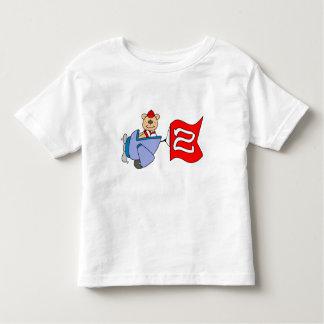 Lil Pilot Bear 2nd Birthday Toddler T-Shirt