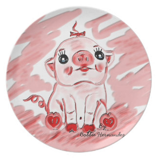 Lil Pink Pig Decorative Plate