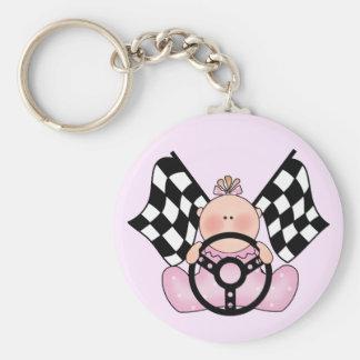 Lil Race Winner Baby Girl Basic Round Button Key Ring