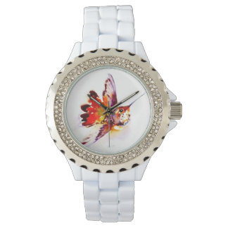 """Lil' Red"" Hummingbird Print Watch"