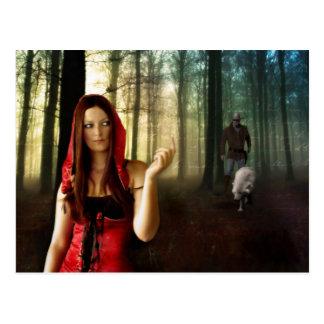 Lil Red Riding Hood - Postcard