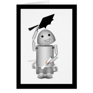 Lil' Robox9 Graduate - Caps Off! Card