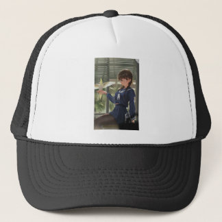 Lil Sis Waits For Your From Work Trucker Hat