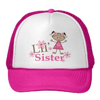 Lil Sister Ethnic Stick Figure Girl Cap