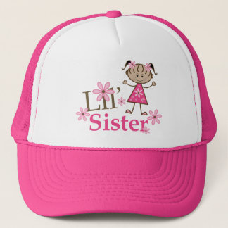 Lil Sister Ethnic Stick Figure Girl Trucker Hat