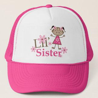 Lil Sister Ethnic Stick Figure Girl Trucker Hat
