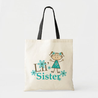 Lil Sister Stick Figure Girl Bags