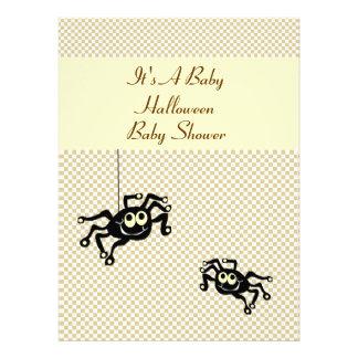 Lil Spider Halloween Baby Shower Invitation Cards