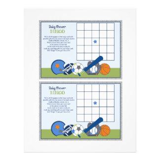 "Lil Sports Player ""Baby Shower Bingo"" sheet 21.5 Cm X 28 Cm Flyer"