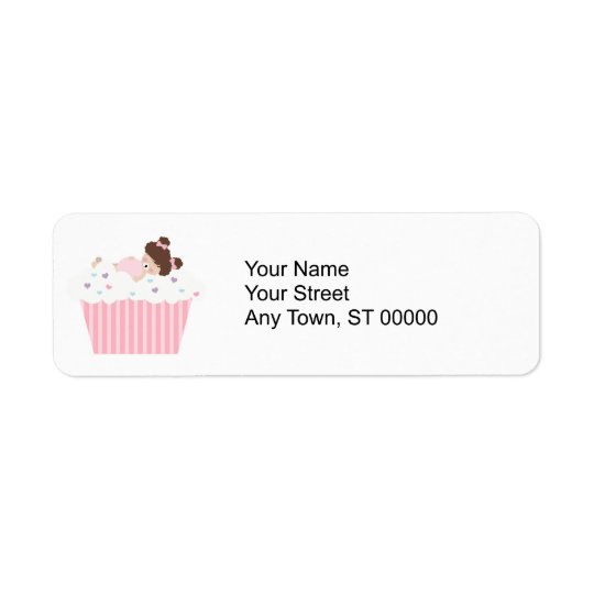 lil sweetie tooth all full cupcake dreams return address label