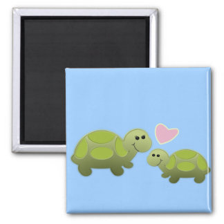 Lil Turtle Square Magnet