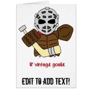 Lil' Vintage Hockey Goalie Card