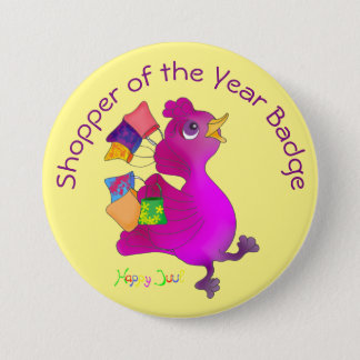 Lila loves Shopping by The Happy Juul Company 7.5 Cm Round Badge