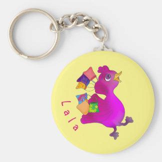 Lila loves Shopping by The Happy Juul Company Key Ring
