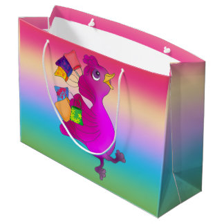 Lila Loves Shopping by The Happy Juul Company Large Gift Bag