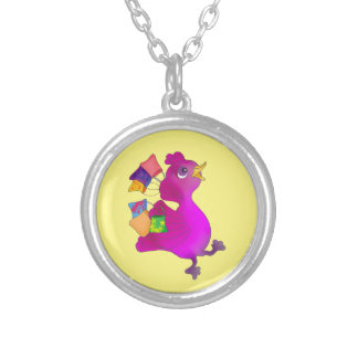 Lila loves Shopping by The Happy Juul Company Silver Plated Necklace