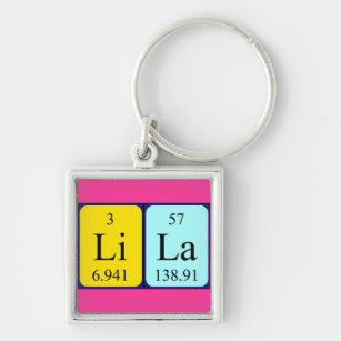 Lila name gifts on zazzle au lila periodic table name keyring urtaz Image collections
