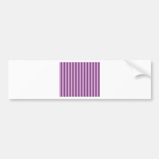 Lila Stripes Bumper Stickers