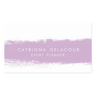 Lilac Abstract Watercolor Splash Business Card