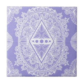 Lilac , Age of awakening, bohemian, newage Ceramic Tile