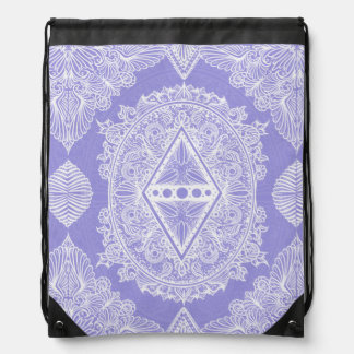 Lilac , Age of awakening, bohemian, newage Drawstring Bag