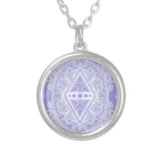 Lilac , Age of awakening, bohemian, newage Silver Plated Necklace
