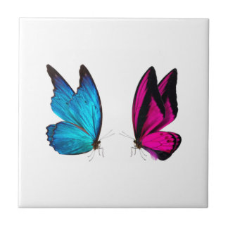 LILAC AND BLUE BUTTERFLIES TILE