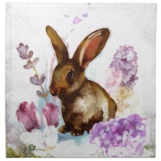 Lilac and Bunny FAA Napkin