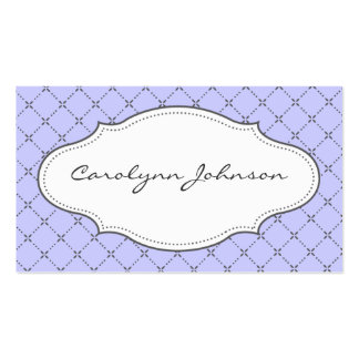 Lilac and Gray Patterned Calling Card Pack Of Standard Business Cards