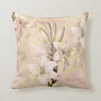 Lilac and Lime Lilies Cushion