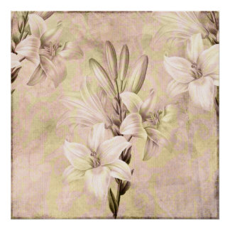 Lilac and Lime Lilies Posters