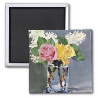 Lilac and Roses Fine Art Magnet Refrigerator Magnet