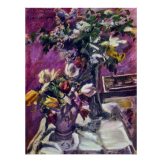 Lilac and tulips by Lovis Corinth Posters