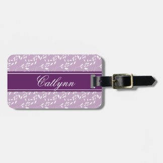 Lilac and Violet Divona Print Luggage Tag