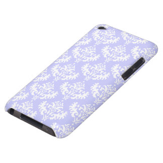 Lilac and White Damask Pattern Barely There iPod Covers