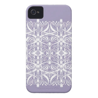 Lilac and White Nouveau Pattern Case iPhone 4 Case