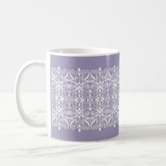 Lilac and White Nouveau Pattern Mug