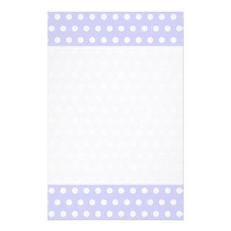 Lilac and White Polka Dot Pattern. Spotty. 14 Cm X 21.5 Cm Flyer