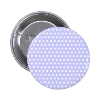 Lilac and White Polka Dot Pattern. Spotty. 6 Cm Round Badge