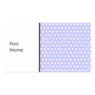 Lilac and White Polka Dot Pattern. Spotty. Pack Of Standard Business Cards