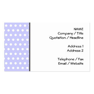 Lilac and White Polka Dot Pattern. Spotty. Double-Sided Standard Business Cards (Pack Of 100)