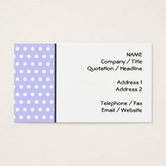 Lilac and White Polka Dot Pattern. Spotty. Business Card