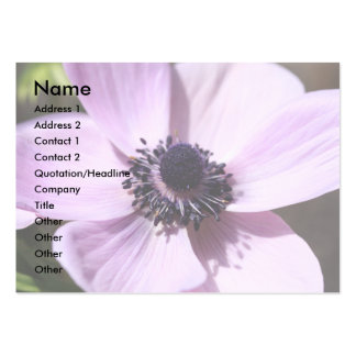 Lilac Anemone Business Card Templates