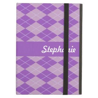 Lilac Argyle Pattern iPad Air Cover