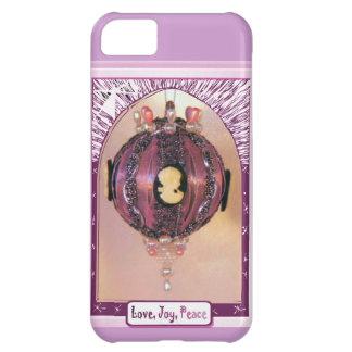 Lilac bauble, love, joy, peace iPhone 5C cover